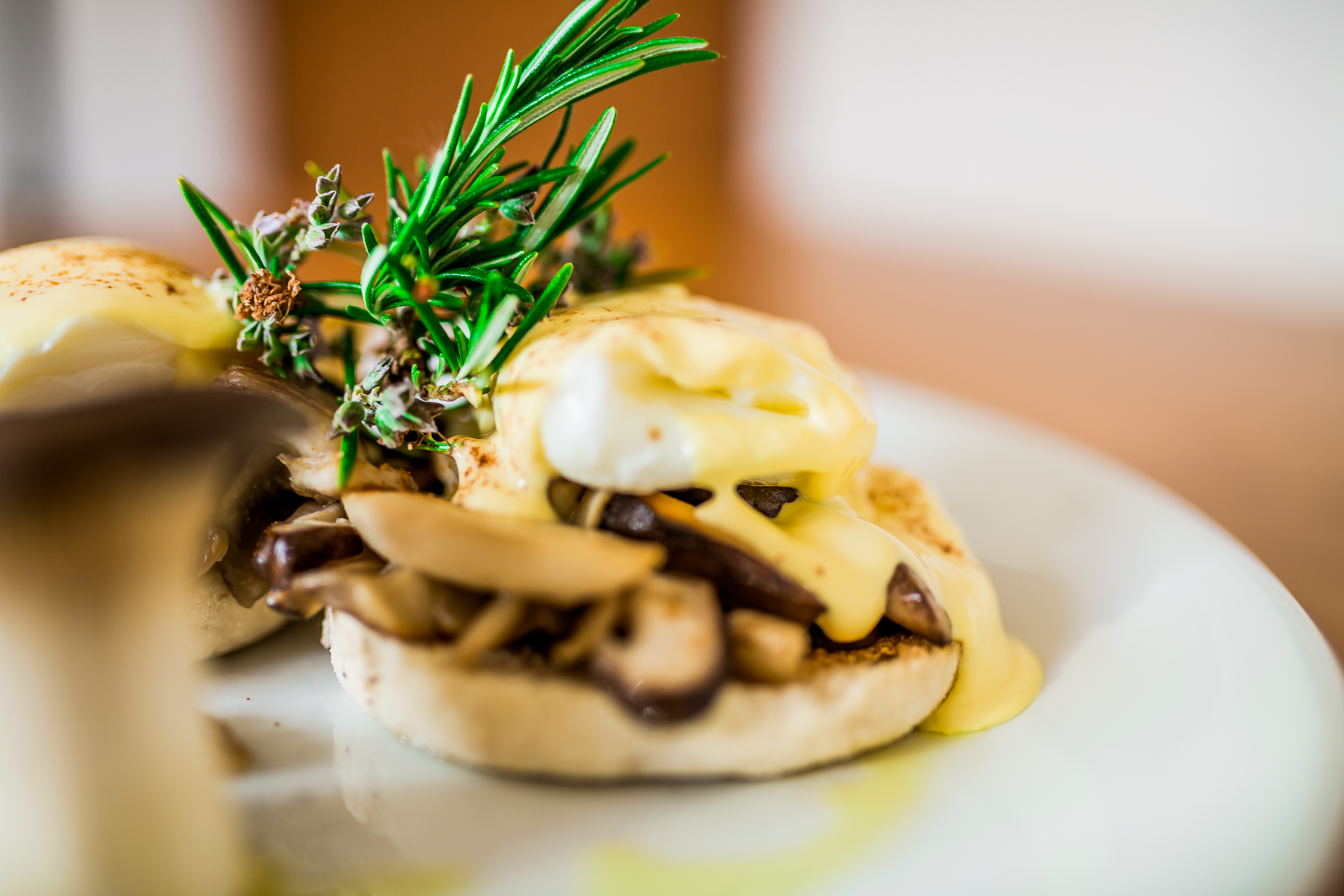 Forest Fungi - Eggs Benedict with Gourmet Mushrooms